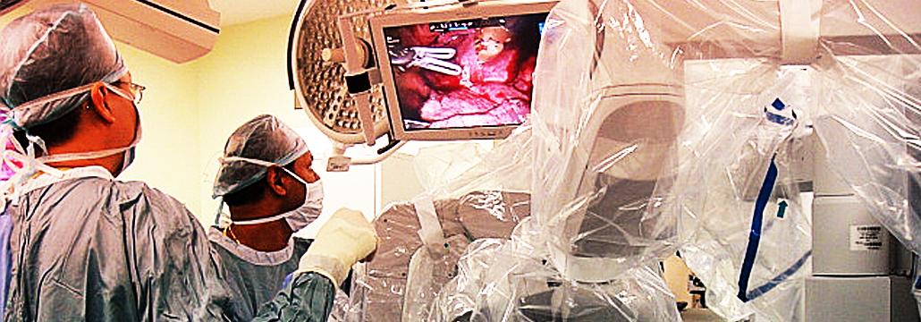 Surgeon Checking at the monitor